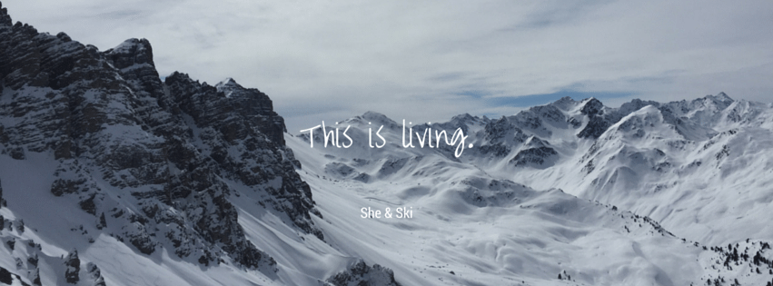 Skiing - This is living. She & Ski