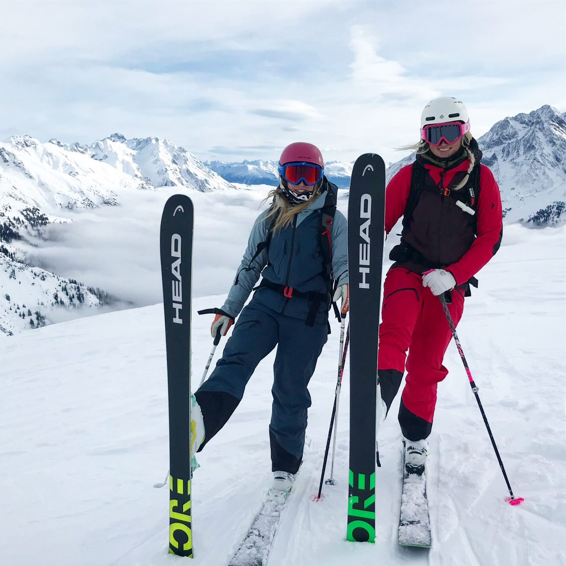 She & Ski skiing st. anton am arlberg